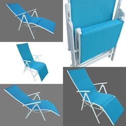 Folding Reclining Chair - Leg Frame - Blue