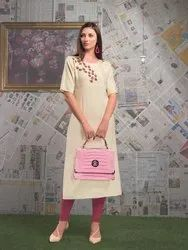Astonishing Heavy Rayon Embroidered Party Wear Kurti