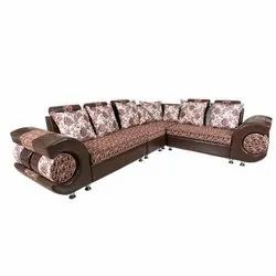 Modern 7 Seater Solid Wooden Sofa Set, For Home