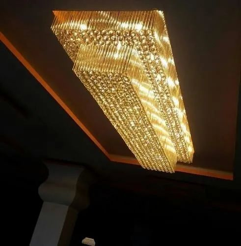 Traditional Crystal Chandelier Shape, Rectangular Shaped Chandeliers