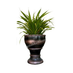 Brownish Black Metallic Colour FRP Planter