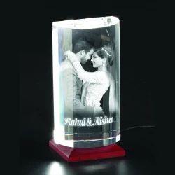 3D-1011 Custom Laser Engraved Crystal