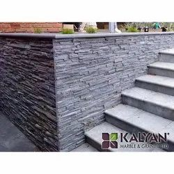 Grey Polished Elevation Stone, For Wall, Packaging Type: Box