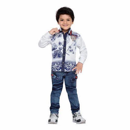 493b65d7c Denim Kids Shirt Jeans Set, Rs 695 /set, Shri Shantinath Trading ...