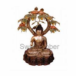 Brass Buddha Tree Statue
