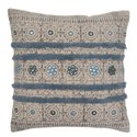 Printed Embroidered Classy Cotton Cushion Cover