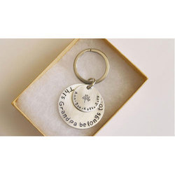 Wooden Rectangular Personalized Drive Safe Keychain, Rs 195
