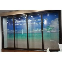 Okotech Powder Coating Aluminium Glass Sliding Door, Size/Dimension: 5 X 3 Meter