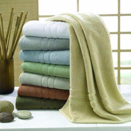 Plain Cotton Luxury Bath Towels Rs 165 Piece The Divine