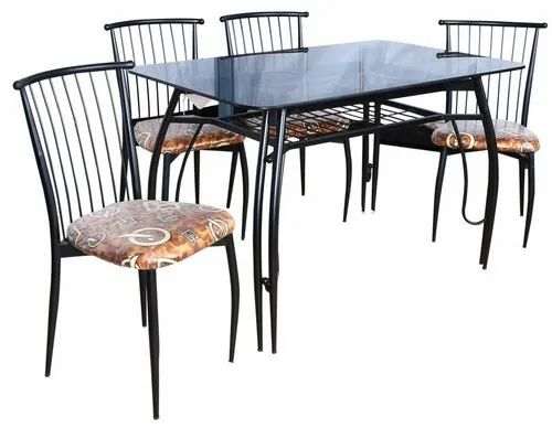 Black Wrought Iron Dining Table, Wrought Iron Dining Table And Chair Set