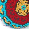Round Designer Embroidered Cushion