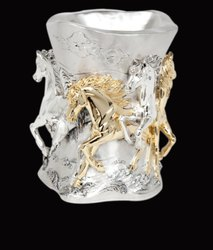 Unique Horse Silver Vase