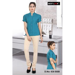 Women Plain Formal Shirt