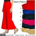 Ladies Rayon Plazzo