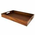 Plain Wooden Rectangular Serving Tray