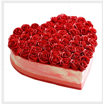 Awesome Red Rose Heart Cake Shape Heart Rs 549 Piece Id