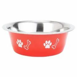 Dog and Cat Elite Standard Feeding Steel Bowl