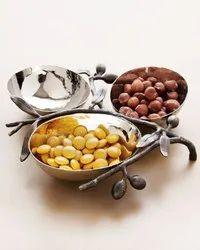 Aluminum Decorative Serving Bowl