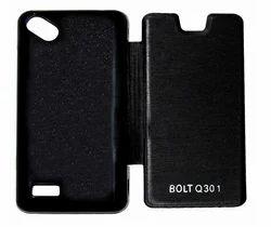 Flip Cover For Micromax Bolt Q301 Black