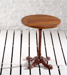 Retro Wine Cellar Cafe Coffee Table With Wooden Top