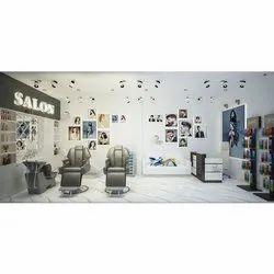 Salon Interior Designing Service, Work Provided: Wood Work & Furniture