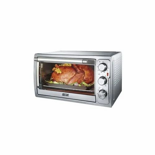 AMERICAN MICRONIC 28 L 230V AC, 1500W Stainless Steel Oven Toaster Griller