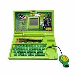 Green Plastic Educational Laptop Toys
