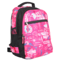 Black And Pink Printed Stylish Backpack Bag