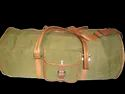 Green Canvas Leather Duffel Bag