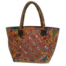 Printed, Embroidered Ladies Embroidered Bag