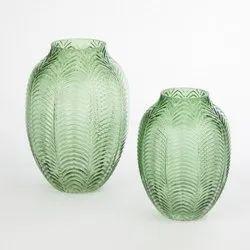 Green Glass Vases