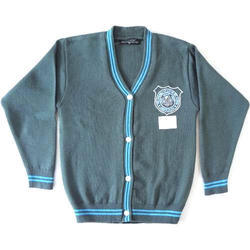 Full Sleeve V Neck Woolen School Sweater