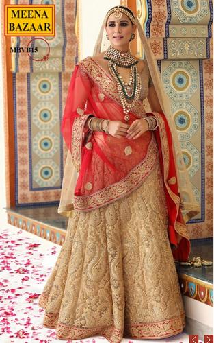 8ceaf3d76 Wedding Wear Red And Gold Lehenga Set, Rs 22980 /piece, Meena Bazaar ...