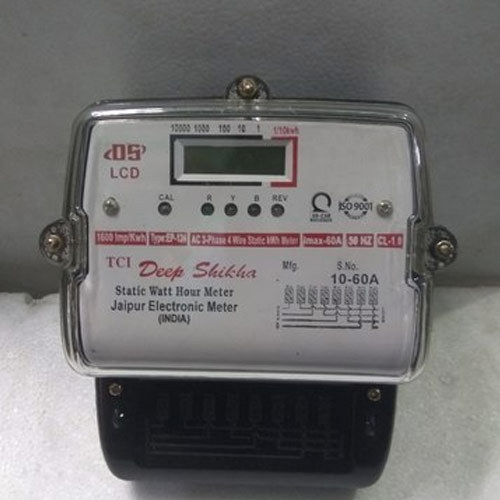 LCD Display Three Phase Electricity Meter at Rs 650 /piece | 3 Phase ...