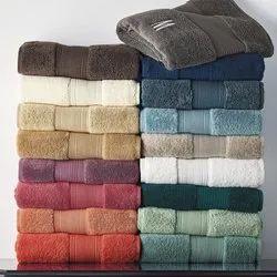 Plain Cotton Bath Terry Towels, Size: 27x54 Inch