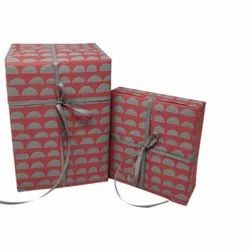 Handmade Red Gift Wrapping Paper