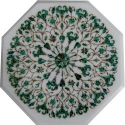 Antique Marble Coffee Inlay Table Top