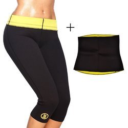 322c34a174638 SHAPEWEAR TOP AND BOTTOM Hot Slimming Shaper Pant Belt Combo
