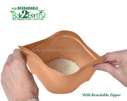 Oxo Degradable Bags With Resealable Zipper