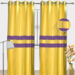 Yellow Cotton Curtain