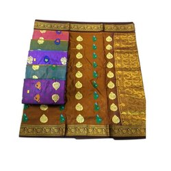 AK Textiles Party Wear Ladies Kanjivaram Silk Saree, 5.5 m (Separate Blouse Piece)