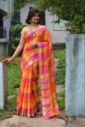 Linen Plain Saree