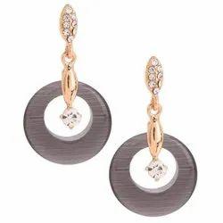 Brass Party Wear Fashion Earrings, Packet