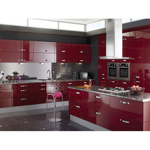 Aluminium Modular Kitchen At Rs 1100 Square Feet: Acrylic Modular Kitchen At Rs 125000 /unit