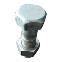 Half Thread Ss Hex Nut Bolt, Size: M5-m20