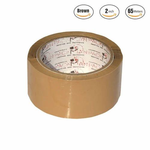 Packman BOPP 48 Mm 2 Inches Brown Self Adhesive Tape X 65 Meter Length