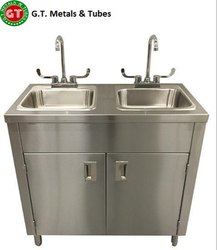 SS Handwash Sink With Tank