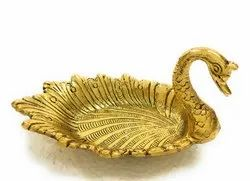 Gold Plated Swan Tray Duck Bowl Platter