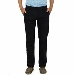 Casual Cotton Mens Black Trouser, Size: M-XXL, Packaging Type: Packet