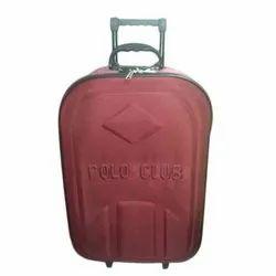 Maroon Nylon Luggage Trolley Bag, Size: 24 Inch